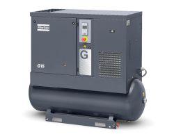 Винтовой компрессор G15 10P на ресивере