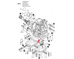 01270300 Нижняя плита двигателя HATZ 1D41 1D30
