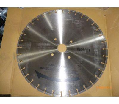 Диск по бетону для швонарезчика D500 мм (500*25,4*4.2*10) GROST